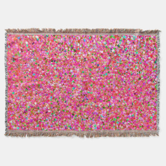 Grit Glitter Fashion Multicolor Painting #4 Throw Blanket