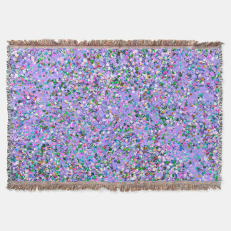 Grit Glitter Fashion Multicolor Painting #6 Throw Blanket