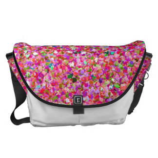 Grit Glitter Fashion Multicolor Painting #7 Messenger Bag