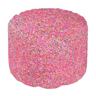 Grit Glitter Fashion Multicolor Painting #7 Pouf