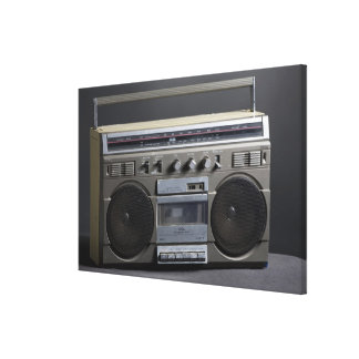 Gritty Boom Box Gallery Wrapped Canvas