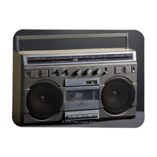Gritty Boom Box Rectangular Photo Magnet