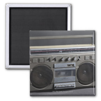 Gritty Boom Box Square Magnet