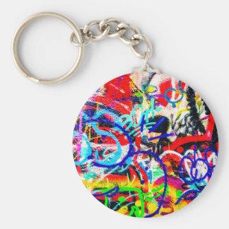 Gritty Crazy Graffiti Key Ring