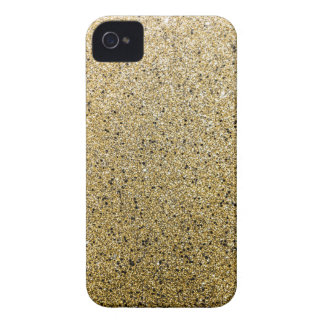 Gritty Gold Glitter Sparkle Case-Mate iPhone 4 Cases