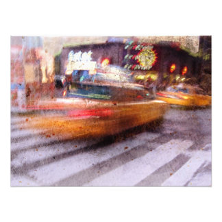 Gritty NYC Taxi Photo Art