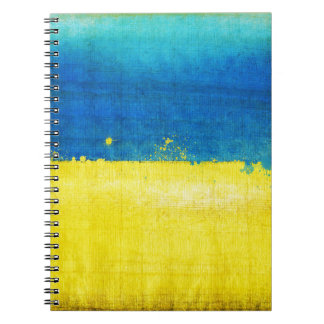 Gritty Ukraine Flag Notebooks