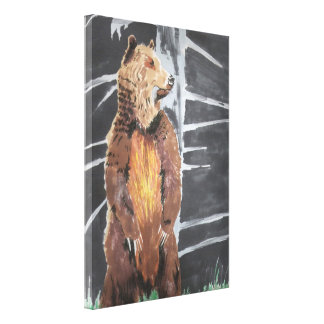 Grizly Bear Gallery Wrapped Canvas
