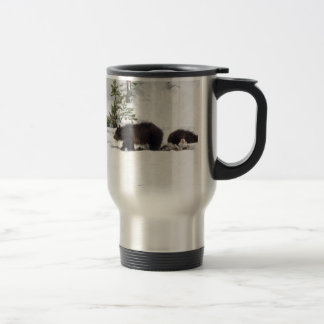 Grizzlies in the Snow Travel Mug