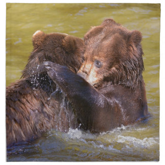 Grizzlies in the water napkin