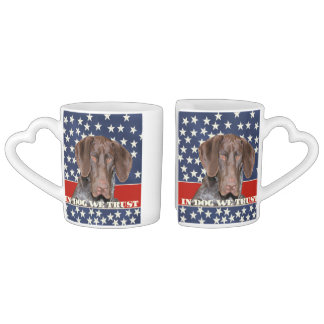 Grizzly4President, In Dog We Trust Lovers Mug Sets