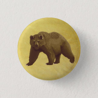 Grizzly Bear 3 Cm Round Badge
