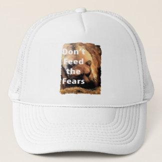 Grizzly Bear Art Don't Feed the Fears Trucker Hat