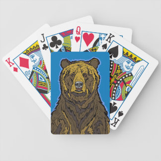Grizzly Bear Bicycle Playing Cards