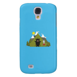 Grizzly Bear Camping Q1Q Samsung Galaxy S4 Covers
