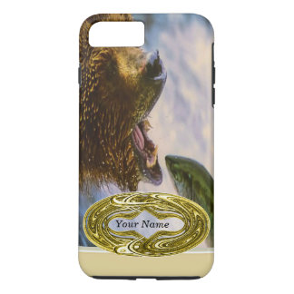 Grizzly Bear Catching Steelhead Salmon iPhone 7 Plus Case