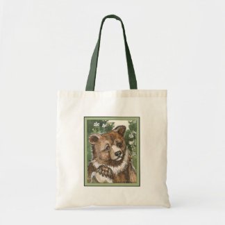 Grizzly Bear Cub Budget Tote Bag