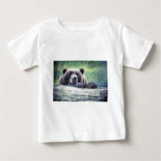 Grizzly Bear Design Baby T-Shirt