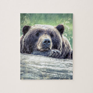 Grizzly Bear Design Jigsaw Puzzle