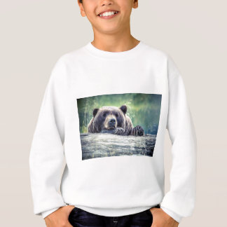 Grizzly Bear Design Sweatshirt