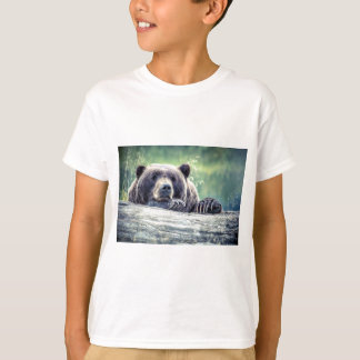 Grizzly Bear Design T-Shirt