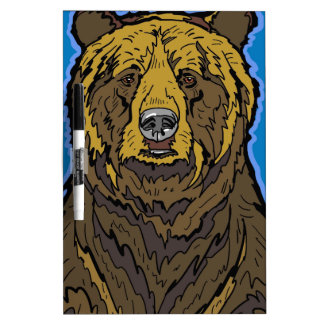 Grizzly Bear Dry Erase Board