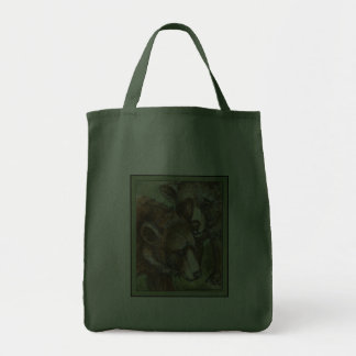 Grizzly Bear Friends Tote Bags