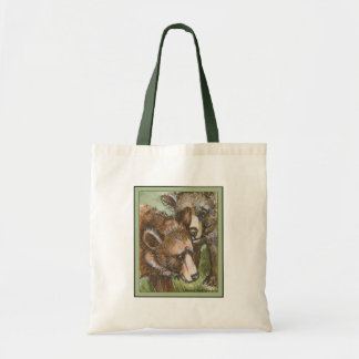 Grizzly Bear Friends Budget Tote Bag