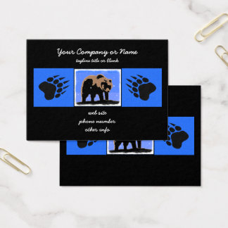 Grizzly Bear in Winter Business Card