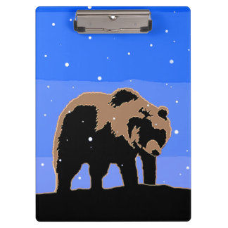 Grizzly Bear in Winter Clipboard
