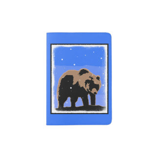 Grizzly Bear in Winter Passport Holder