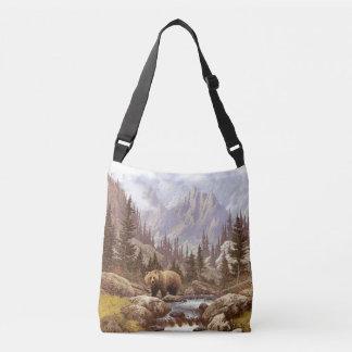 Grizzly Bear Landscape Cross Body Bag