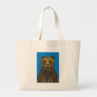 Grizzly Bear Large Tote Bag
