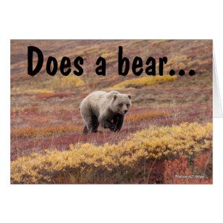 Grizzly Bear Moves Through Autumn Colors In Alaska Card