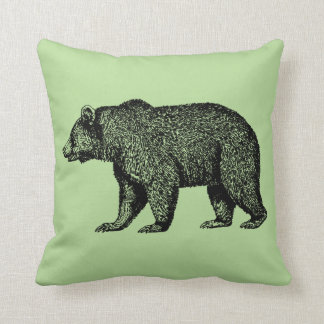 Grizzly Bear Out For A Walk Throw Pillow