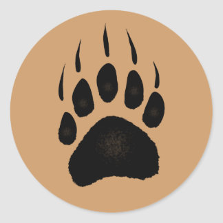 Grizzly Bear Pawprint Stickers