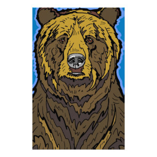 Grizzly Bear Personalized Stationery