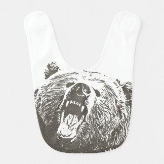 Grizzly Bear Roar Beast Boy Bib