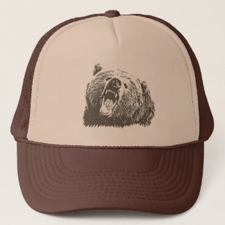 Grizzly Bear Roar Trucker Hat