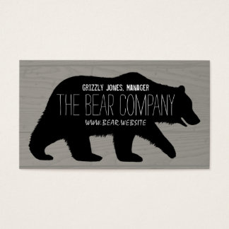 Grizzly Bear Silhouette Business Card