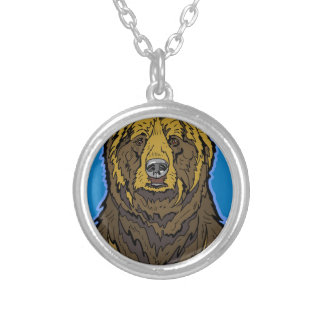 Grizzly Bear Silver Plated Necklace