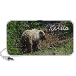 Grizzly Bear Smile; Customizable Mini Speaker