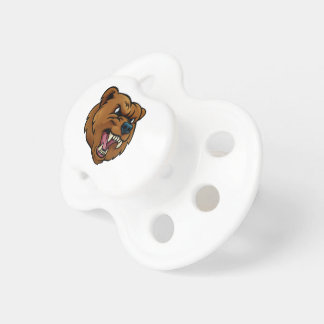 Grizzly Bear Sports Mascot Angry Face Dummy