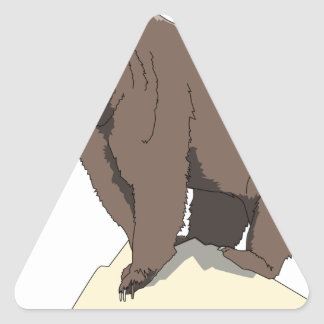 grizzly-bear-standing-on-rock-vector-clipart triangle sticker