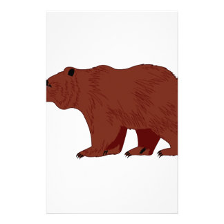 Grizzly Bear Stationery Design