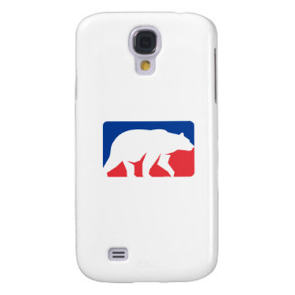 Grizzly Bear Walking Silhouette Rectangle Retro Samsung Galaxy S4 Cover