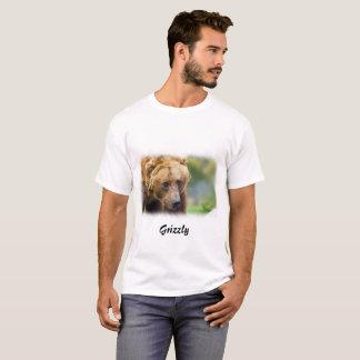 Grizzly Bear White Border T-Shirt