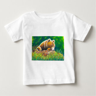 Grizzly Bear wildlife art Baby T-Shirt