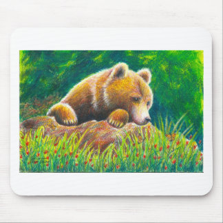 Grizzly Bear wildlife art Mouse Pad