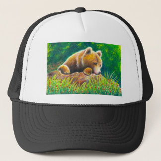 Grizzly Bear wildlife art Trucker Hat